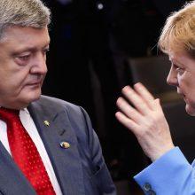 A. Merkel ketina susitikti su P. Porošenka Ukrainos rinkimų kampanijos metu