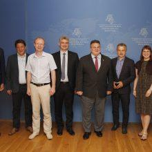 L. Linkevičius susitiko su Baltarusijos opozicija