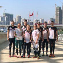 Pasaulio kariškių žaidynių estafetėse lietuviai užėmė aštuntąsias vietas
