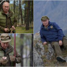 Neįprastas V. Putino gimtadienis: surengė demonstratyvią fotosesiją