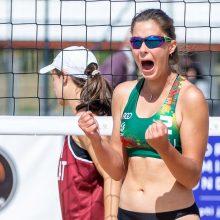 Paplūdimio tinklinio turnyre – dvi Lietuvos merginų poros ant apdovanojimų pakylos