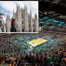 """""""Žalgiris"""" nepaiso rekomendacijų: mačas su italais įvyks, arenoje bus ir sirgaliai"""