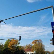 Fiksuoja klaipėdiečiai: Mokyklos gatvėje dingo šviesoforas