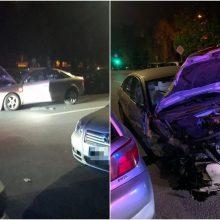 Klaipėdoje naktį apsvaigęs vairuotojas apgadino 12 automobilių