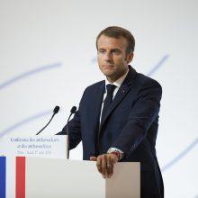 Prancūzijos prezidentas su danais kalbėsis apie Europos gynybą