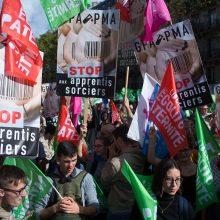 Paryžiuje protestuota prieš pagalbinio apvaisinimo galimybę vienišoms moterims