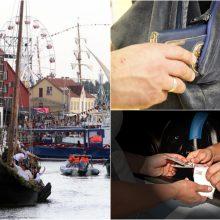 Jūros šventės atgarsiai: penkios vagystės ir trys tyrimai dėl disponavimo narkotikais