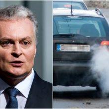 G. Nausėda apie automobilių mokestį: ragina sieti su prabanga, ne vien tarša
