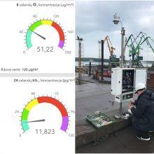 Uosto taršos stotelių duomenys jau prieinami visuomenei