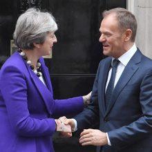 """Didžiosios Britanijos iki ES siūlomi """"Brexit"""" atidėjimo terminai skiriasi"""