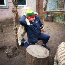 Savanoriai darbavosi Klaipėdos zoologijos sode