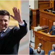 Ukrainos prezidentu inauguruotas V. Zelenskis paleido parlamentą