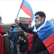 """ES pasmerkė """"masinius sulaikymus"""" protestuose, skirtuose A. Navalnui palaikyti"""