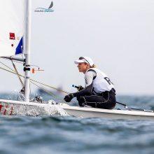 Olimpiniuose Japonijos vandenyse – V. Andrulytės startas pasaulio taurėje