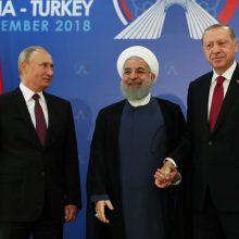 Rusija, Turkija ir Iranas rengė viršūnių susitikimą dėl Sirijos