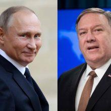 Kremlius: V. Putinas ir M. Pompeo aptars Irano, Sirijos, Venesuelos klausimus