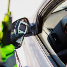 Per šventinį savaitgalį Klaipėdos pareigūnai išaiškino septynis neblaivius vairuotojus