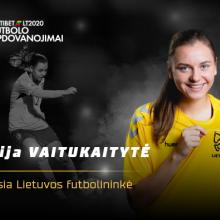 L. Vaitukaitytė pirmą kartą išrinkta geriausia Lietuvos metų futbolininke