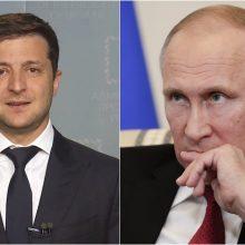 Ukrainos prezidentas pasiūlė V. Putinui susitikti: reikia pasikalbėti