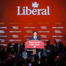 Kanadoje premjero J. Trudeau liberalai laimėjo rinkimus, bet jų pozicijos susilpnėjo