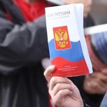 Rusijoje už konstitucijos pataisas nubalsavo beveik 78 proc. plebiscito dalyvių