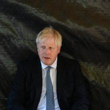 """B. Johnsonas nesitiki persilaužimo per """"Brexit"""" pokalbius Niujorke"""