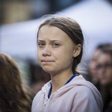 Klimato aktyvistė G. Thunberg svarsto, kaip iš JAV pasiekti Madridą