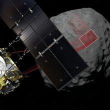 """Asteroidą tyrinėjęs Japonijos zondas """"Hayabusa 2"""" pradės kelionę namo"""