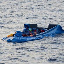 """Prie Libijos krantų """"Sea-Eye"""" laivas išgelbėjo dar 40 migrantų"""