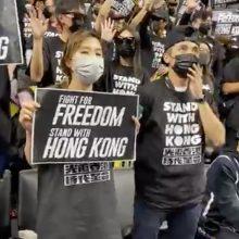 Per NBA rungtynes – žinutės dėl Honkongo ir Tibeto laisvės