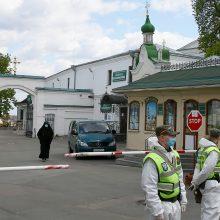 Kijeve karantinuotas koronaviruso protrūkio apimtas moterų vienuolynas