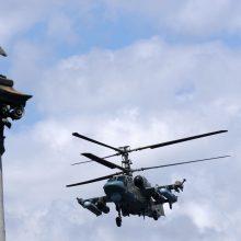 Rusijos aneksuotame Kryme rengiamos didelės oro desanto pratybos