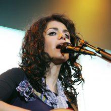 Populiarioji britų muzikos žvaigždė K. Melua atvyko į Lietuvą