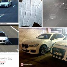 Nors BMW įregistravo Baltarusijoje, bet įkliuvo Lietuvoje: greitį viršijo 36 kartus
