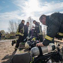 Tikrino Alytuje dirbusių ugniagesių sveikatą: 7 iš 10 rado sutrikimų