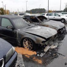 Utenoje supleškėjo trys BMW automobiliai: prašo pagalbos ieškant padegėjų