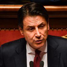 Italijos premjeras G. Conte atsistatydina