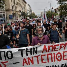 Graikiją užgriuvo streikų banga: pasisako prieš taupymo priemones ir privatizaciją