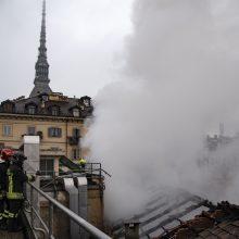 Italijos policija įtaria benamį marokietį padegus UNESCO objektą Turine