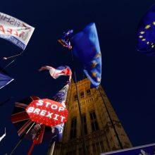 """D. Tuskas rekomenduoja pritarti dar vienam """"Brexit"""" atidėjimui"""