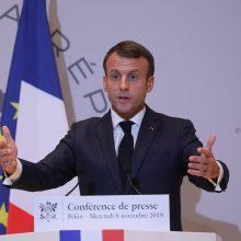 Prancūzijos prezidentas: Irano sprendimai dėl branduolinės programos yra grėsmingi