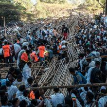 Etiopijoje sugriuvus žiūrovų tribūnai žuvo 10 žmonių, daugiau kaip 100 – sužeista