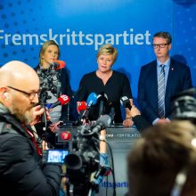 Norvegijos populistai traukiasi iš koalicijos dėl sprendimo grąžinti į šalį IS našlę