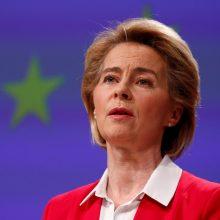 """Europos Komisijos pirmininkė atsiprašo Italijos, bet """"koronaobligacijoms"""" nepritaria"""