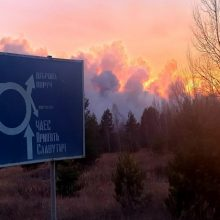 Stebi gaisrus Černobylio teritorijos zonoje: radiacinis fonas Lietuvoje nepakitęs