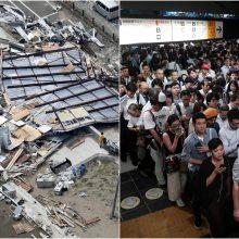 Tokijui smogė galingas taifūnas: žuvo du žmonės, kilo eismo chaosas