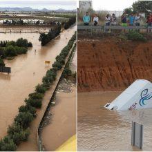 Ispaniją skalauja liūtys ir potvyniai: aukų skaičius auga