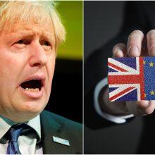 """B. Johnsonas nepalieka abejonių dėl """"Brexit"""": aistringai tikiu, kad mums pavyks"""