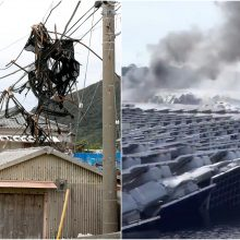 Taifūno padariniai Japonijoje: beveik 80 tūkst. namų vis dar neturi elektros