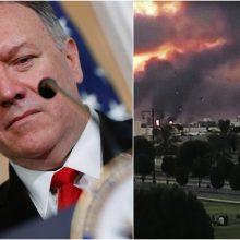 M. Pompeo: atakos prieš Saudo Arabijos naftos infrastruktūrą yra karo aktas
